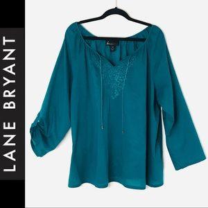 Lane Bryant Turquoise Lightweight Top